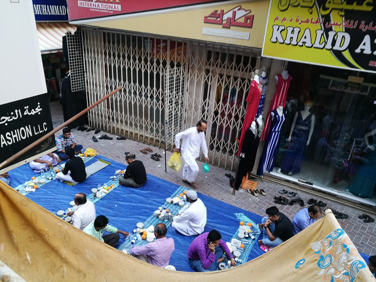 Experiencing a communal iftar in OldDubai